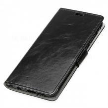 Кожен калъф Flip тефтер Flexi със стойка за Samsung Galaxy A20s - черен