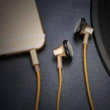 Оригинални стерео слушалки JOYROOM /handsfree/ за смартфон - златисти