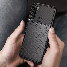 Луксозен силиконов калъф / гръб / TPU Bozzy Rugged за Motorola One Macro - черен / Carbon