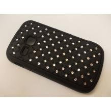 Заден предпазен твърд гръб / капак / с камъни за Samsung Galaxy mini 2 S6500 - черен