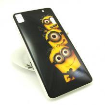 Силиконов калъф / гръб / TPU за Lenovo A7000 / K3 Note - черен / Minions / Миньони / Despicable me / Аз проклетникът