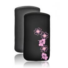"""Велурен калъф - розов - размер """"М"""" за Nokia C5-03"""