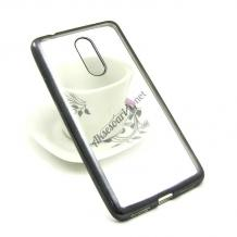 Луксозен силиконов гръб TPU за Lenovo Vibe K5 Note A7020 - прозрачен / черен кант