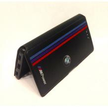 Кожен калъф Flip тефтер със стойка за Apple iPhone 6 / iPhone 6S - BMW / MPower / черен с червено