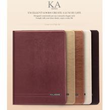 Луксозен кожен калъф KA Series Kalaideng със стойка за Apple iPAD 5 / iPad Air - бял