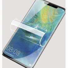 Удароустойчив извит скрийн протектор / 3D Nano Full Cover Pet / за Samsung Galaxy Note 10 Plus N975 - прозрачен