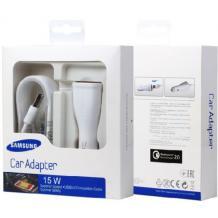 Оригинално зарядно за кола 12V за Samsung Galaxy A8 2018 A530F / Type C / Fast Charger