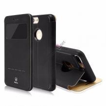 Оригинален кожен калъф Flip тефтер Baseus Simpe Series със стойка за Apple iPhone 6 / Apple iPhone 6S - черен