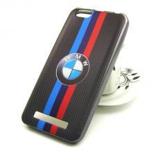 Силиконов калъф / гръб / TPU за Lenovo Vibe C / A2020 - BMW / черен / цветни кантове