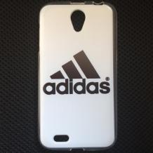 Силиконов калъф / гръб / TPU за Lenovo A859 - бяло и черно / Adidas