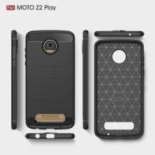 Силиконов калъф / гръб / TPU за Moto Z2 Play - черен / Carbon