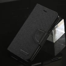 Луксозен кожен калъф Flip тефтер със стойка MERCURY Fancy Diary за Samsung Galaxy A3 2017 A320 - черен