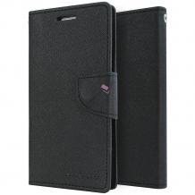 Луксозен кожен калъф Flip тефтер със стойка MERCURY Fancy Diary за ZTE Blade L5 - черен