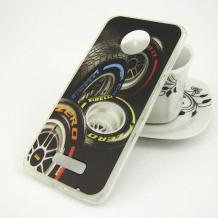 Силиконов калъф / гръб / TPU за Lenovo Moto Z - черен / гуми