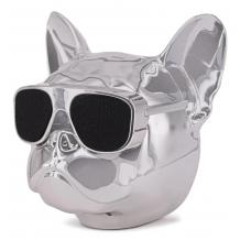 Тонколона Dog Head Bluetooth / Dog Head Bluetooth Wireless Stereo Speaker - сребриста