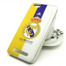 Силиконов калъф / гръб / TPU за Lenovo Vibe C / A2020 - Real Madrid / жълт