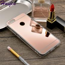 Луксозен силиконов калъф / гръб / TPU за Xiaomi Mi A1 / 5X - Rose Gold / огледален