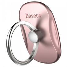 Универсална стойка за телефон / пръстен / BASEUS - розова