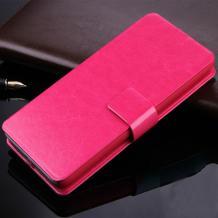 Кожен калъф Flip тефтер със стойка за Lenovo Vibe Shot Z90 - розов