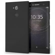 Силиконов калъф / гръб / TPU за Sony Xperia XA2 Ultra  - черен / мат