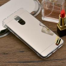 Луксозен силиконов калъф / гръб / TPU за Xiaomi RedMi Note 4 / RedMi Note 4X - сребрист / огледален