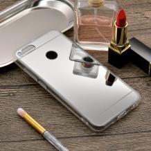 Луксозен силиконов калъф / гръб / TPU за Xiaomi Mi A1 / 5X - сребрист / огледален