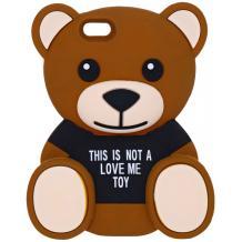 Силиконов калъф / гръб / TPU 3D за Samsung Galaxy S6 G920 - Teddy Bear / This Is Not A Love Me Toy / черен