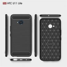 Силиконов калъф / гръб / TPU за HTC U11 Life - черен / carbon