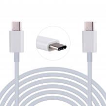 Оригинален USB кабел Type-C за Huawei Y7 2019 - бял