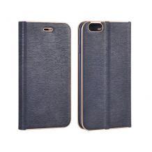 Луксозен кожен калъф Flip тефтер Vennus за LG Q6 - тъмно син