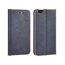Луксозен кожен калъф Flip тефтер Vennus за Apple iPhone 7 / iPhone 8 - тъмно син