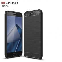 Силиконов калъф / гръб / TPU за Asus Zenfone 4 ZE554KL - черен / carbon