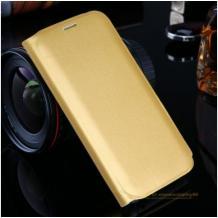 Луксозен кожен калъф Flip тефтер със стойка за Samsung Galaxy S8 Plus G9655 - златист