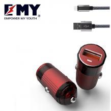 Универсално зарядно устройство / Fast Charge EMY MY-118Q 12V Qualcomm 3.0 + Type C