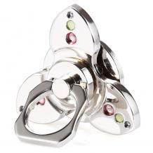 Универсална стойка за телефон с камъни / пръстен / Метален Фиджет Спинер Триосов / Fidget Spinner