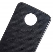 Луксозен силиконов гръб Sammato Jeans за Lenovo Moto Z2 Play - черен / 1