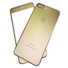 Алуминиев скрийн протектор 360° за Apple iPhone 7 Plus / iPhone 8 Plus - златист / лице и гръб