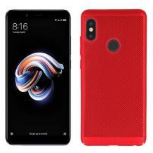 Луксозен твърд гръб за Xiaomi Redmi 7 - червен / Grid
