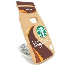 Силиконов калъф / гръб / TPU 3D за Samsung Galaxy S6 G920 - Starbucks / Frappuccino