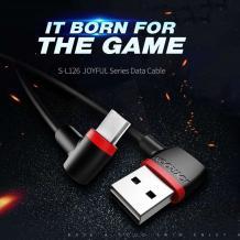 Оригинален USB кабел JOYROOM S-L126 за зареждане и пренос на данни 1m / Type-C/ - черен с червено