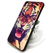 Луксозен силиконов калъф / гръб / TPU HTC Desire 820 - цветен / тигър