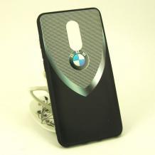 Луксозен твърд гръб за Xiaomi RedMi Note 4 / RedMi Note 4X - BMW / черно с сиво / 1
