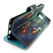 Кожен калъф Flip тефтер със стойка за Lenovo K6 Note - цветен / капан за сънища