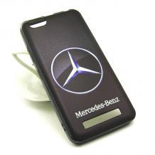 Силиконов калъф / гръб / TPU за Lenovo Vibe C / A2020 - Mercedes Benz / черен