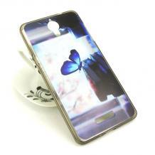 Силиконов калъф / гръб / TPU за Coolpad Modena 2 - цветен / синя пеперуда
