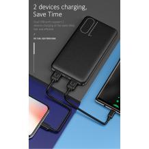 Универсална външна батерия USAMS PB7 / Universal Dual USB Power Bank USAMS PB7 10000mAh - черна