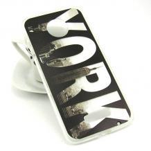 Силиконов калъф / гръб / TPU за Motorola Moto G6 Plus - черен / New York