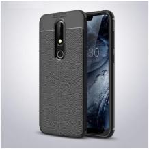 Луксозен силиконов калъф / гръб / TPU за Xiaomi Mi 9T - черен / имитиращ кожа