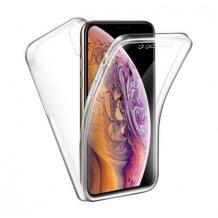 Tвърд гръб 360° със силиконова част за Apple iPhone 12 Mini 5.4'' - прозрачен