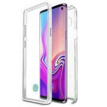 Tвърд гръб 360° със силиконова част за Huawei Y6p - прозрачен лице и гръб